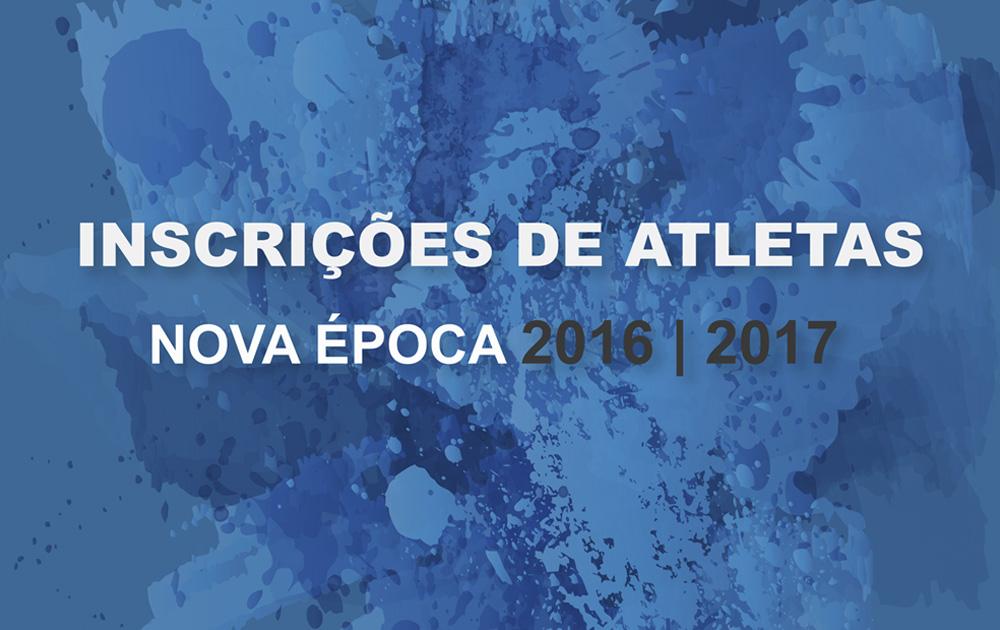 Inscrições Atletas para Nova Época 2016-2017